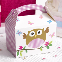 Little Owls Pink Lunch Boxes (8)